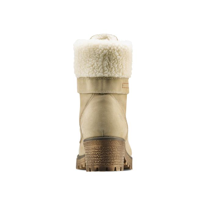 Chaussure d'hiver en cuir avec fausse fourrure weinbrenner, 696-8168 - 16