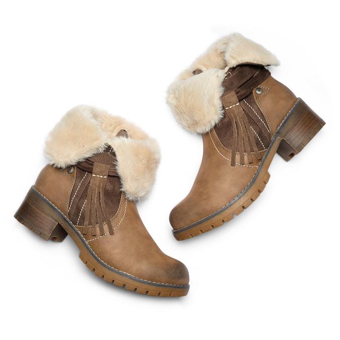 Women's shoes bata, Gris, 691-2429 - 19