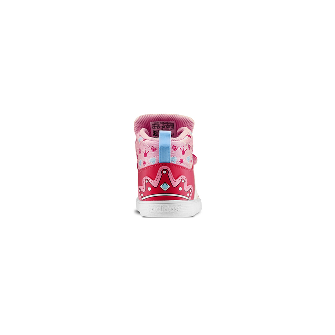 Basket montante fille adidas, Rouge, 101-5292 - 16