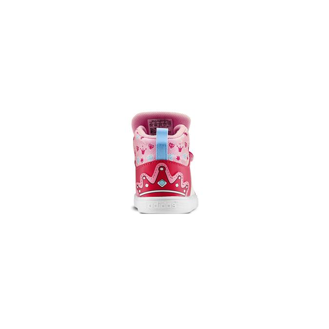 Basket montante fille adidas, Rouge, 101-5292 - 16