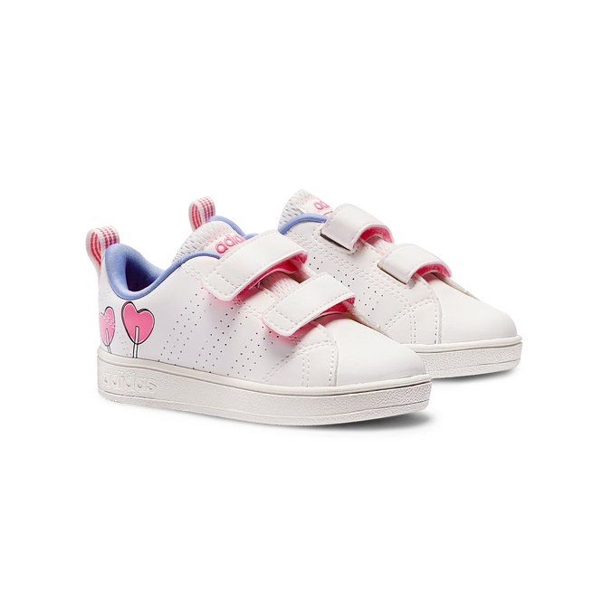 Childrens shoes adidas, Blanc, 101-1129 - 26