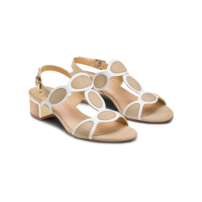 Women's shoes insolia, Jaune, 669-8297 - 16
