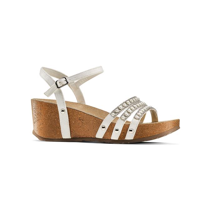 Women's shoes bata, Blanc, 669-1359 - 13