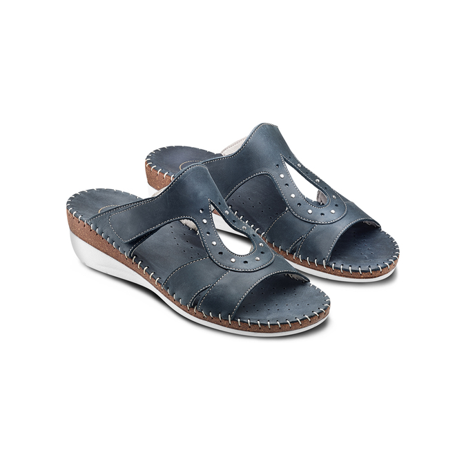 Men's shoes bata, Violet, 666-9128 - 16