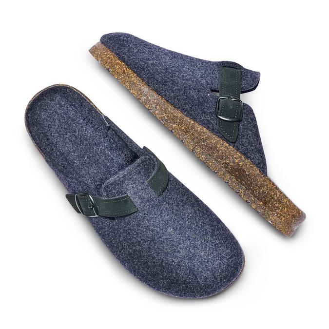 Men's shoes bata, Bleu, 879-9279 - 26