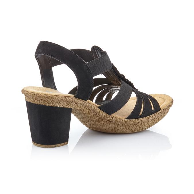 RIEKER Chaussures Femme rieker, Noir, 761-6475 - 15