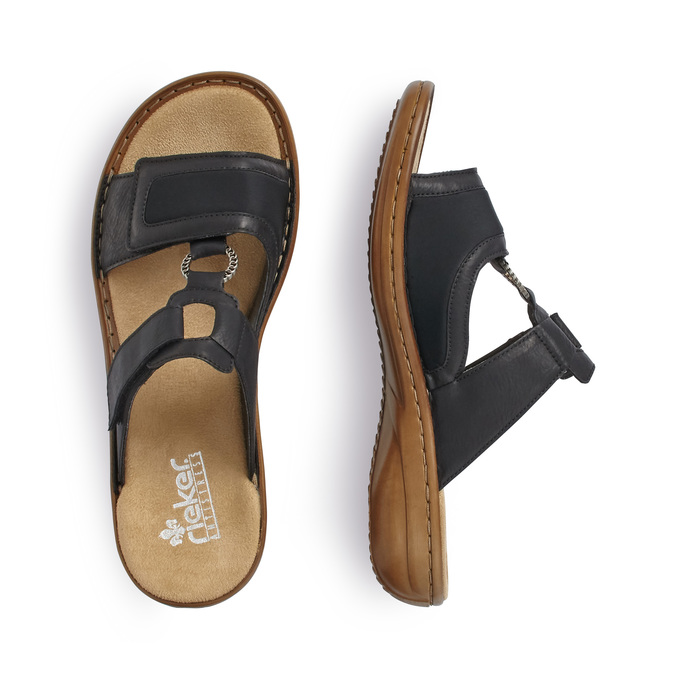 Chaussures Femme rieker, Noir, 661-6195 - 16