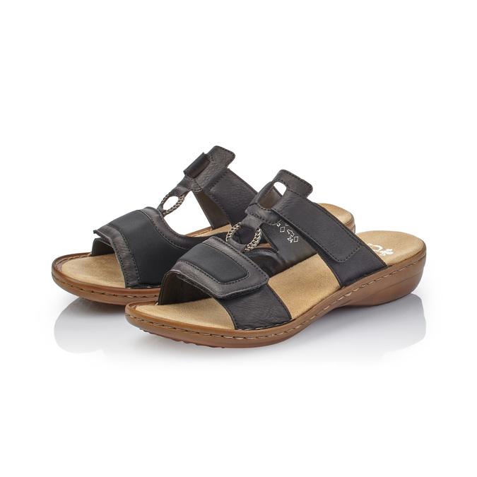 Chaussures Femme rieker, Noir, 661-6195 - 26
