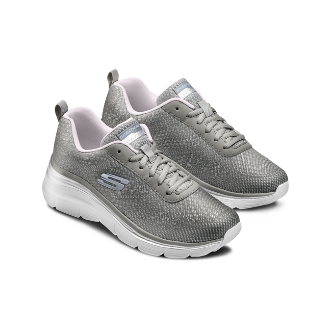 Chaussures Femme skechers, Gris, 509-2166 - 16