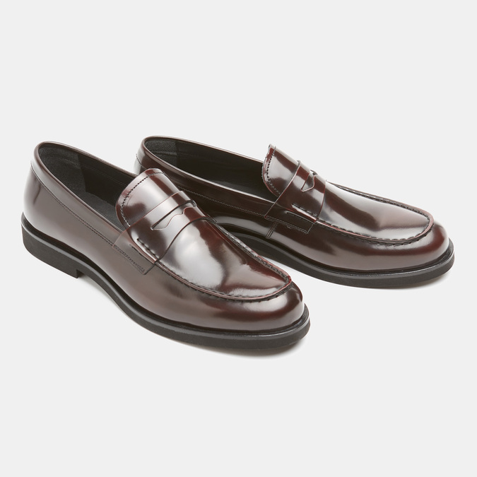 Chaussures homme bata, Rouge, 814-5177 - 26
