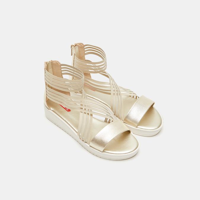 Chaussures Femme bata-rl, Or, 561-8671 - 19