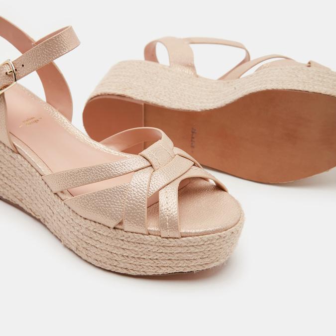 Chaussures Femme bata, Or, 761-8782 - 19