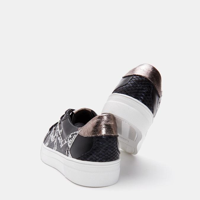 Baskets avec impressions de motifs animaliers bata, Noir, 541-6563 - 19