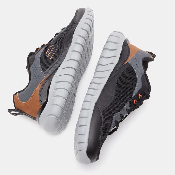 Chaussures Homme skechers, Noir, 801-6132 - 15