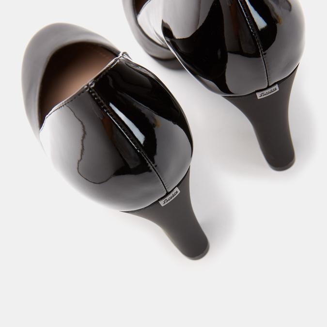 Escarpins à talon large insolia, Noir, 724-6160 - 15