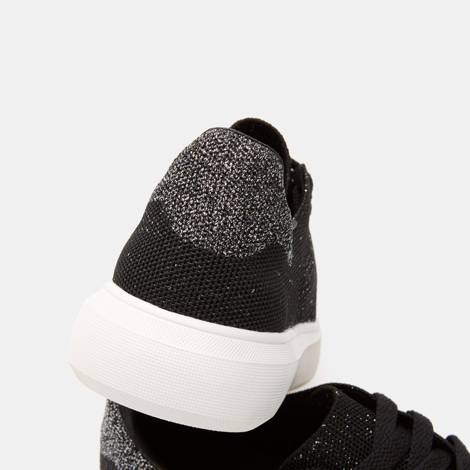 Baskets en tissu ajouré bata, Noir, 549-6279 - 26
