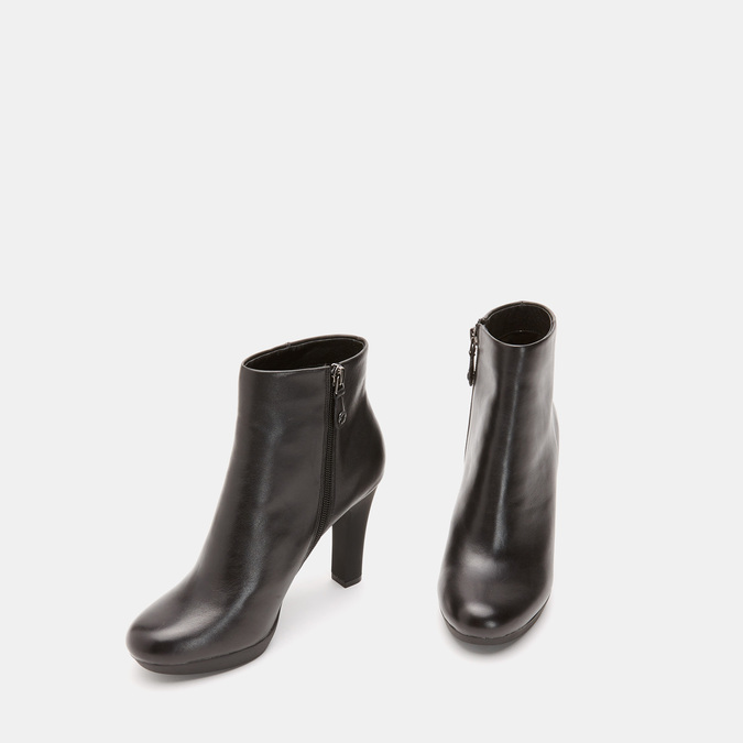 Bottines en cuir de type tronchetto insolia, Noir, 794-6675 - 17