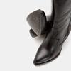 Bottes de style Texas en cuir véritable bata, Noir, 794-6585 - 15
