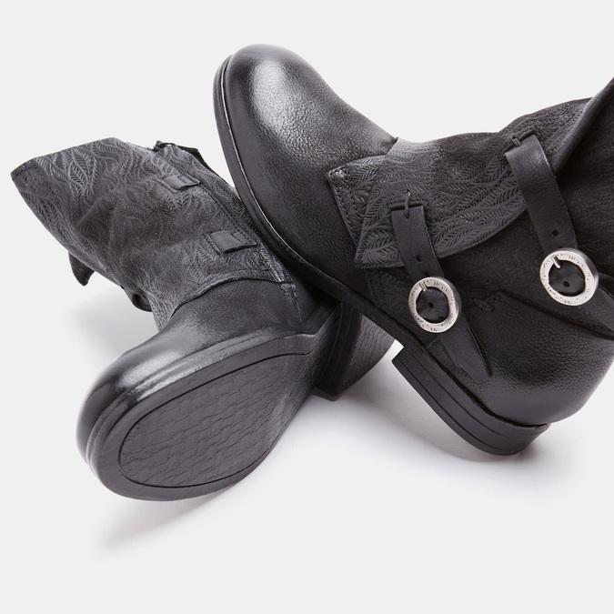 Bottines à boucles bata, Noir, 594-6582 - 15