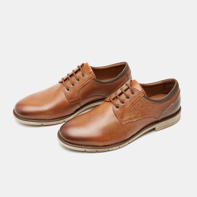 Chaussures à lacets homme flexible, Brun, 824-4780 - 16