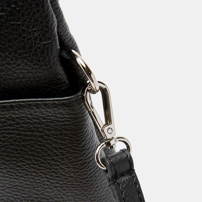 Cabas en cuir bata, Noir, 964-6338 - 26