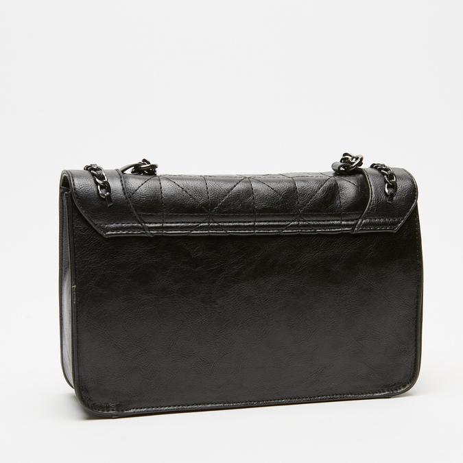 sac à bandoulière matelassé à chaînette bata, Noir, 961-6125 - 15