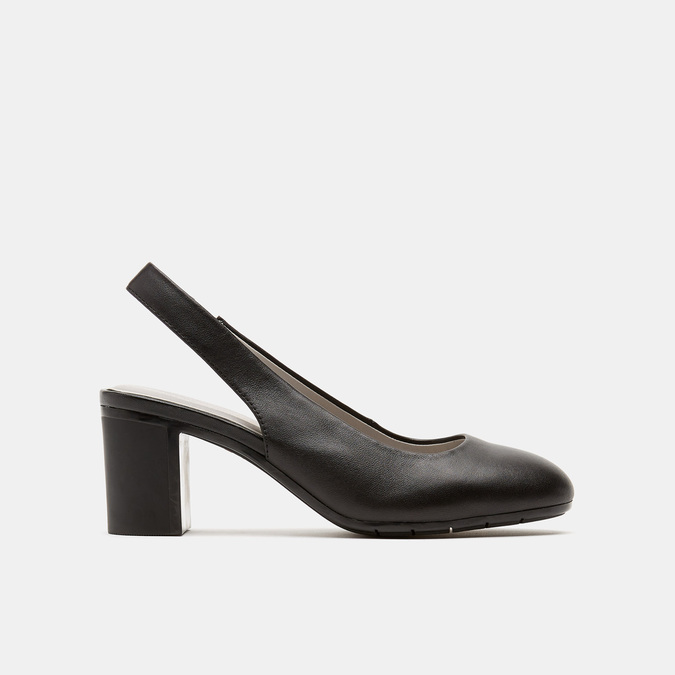 Sandales à talon ouvert et bout arrondi flexible, Noir, 624-6241 - 13