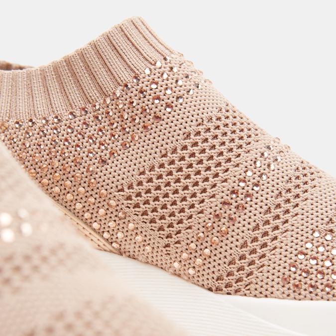 Baskets Knit femme bata, Rouge, 539-5184 - 17
