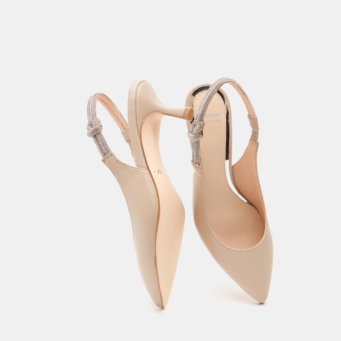 Sandales à bout pointu et talon ouvert bata, Rouge, 624-5243 - 19