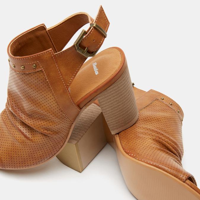 Sandales à dessus perforé bata, Brun, 761-3267 - 16