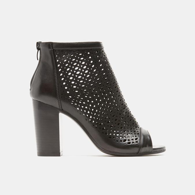 Sandales à dessus perforé bata, Noir, 721-6269 - 13
