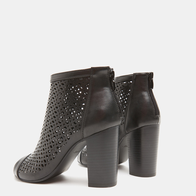 Sandales à dessus perforé bata, Noir, 721-6269 - 16