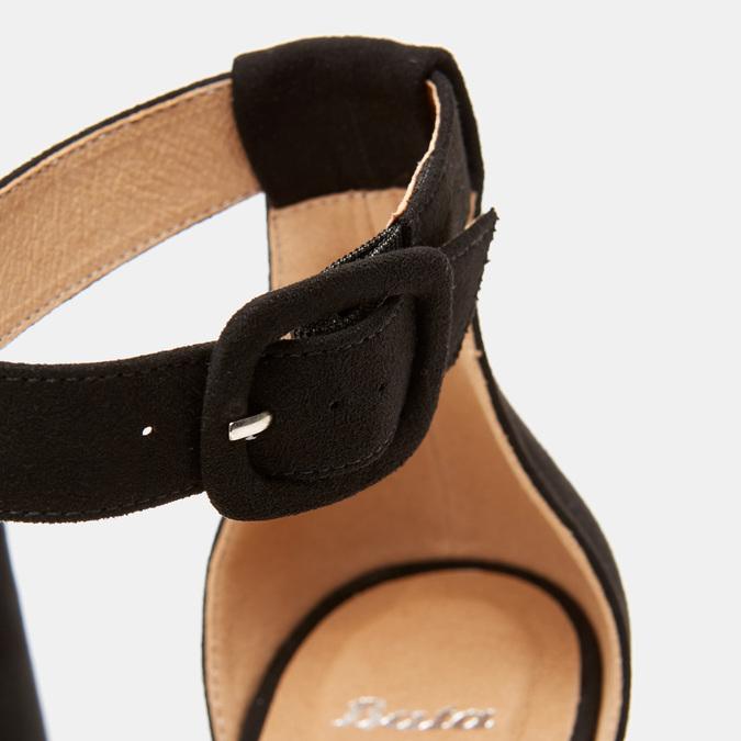 Sandales à bride autour de la cheville bata, Noir, 769-6893 - 26