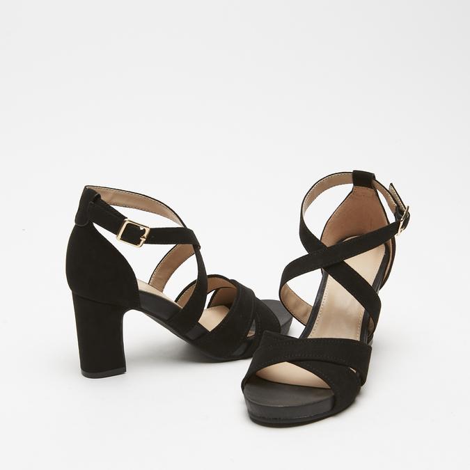 Sandales à bride autour de la cheville bata, Noir, 769-6891 - 26