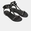 Sandales cloutées bata, Noir, 561-6838 - 26