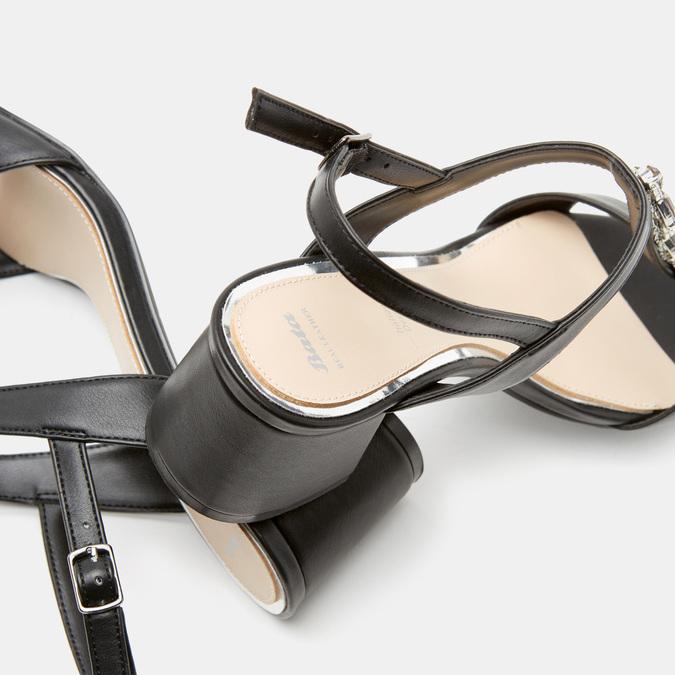 Sandales à talon large bata, Noir, 761-6856 - 17