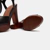 Sandales à talon large et à plateforme bata, Noir, 761-6881 - 17