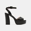 Sandales à talon large bata, Noir, 761-6873 - 13