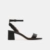 Sandales à talon large bata, Noir, 761-6872 - 13