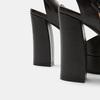 Sandales à talon large bata, Noir, 761-6873 - 15
