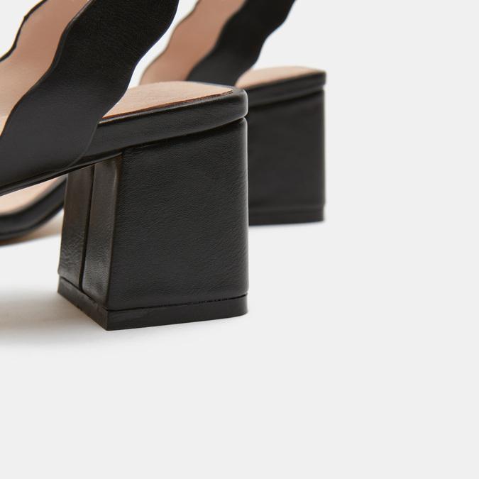 Sandales à talon large bata, Noir, 761-6872 - 15