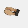 Sandales à talon large bata, Noir, 761-6872 - 17