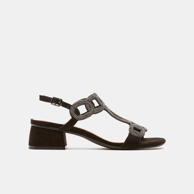 Sandales à talon large bata, Noir, 669-6215 - 13