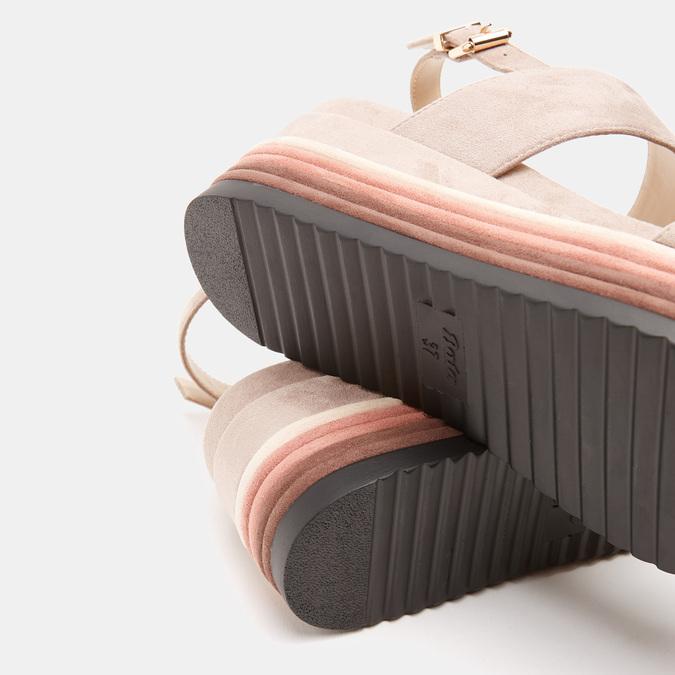 Sandales à plateforme bata, Jaune, 769-8885 - 17