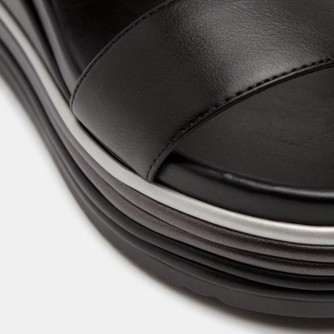 Sandales à plateforme bata, Noir, 761-6885 - 26