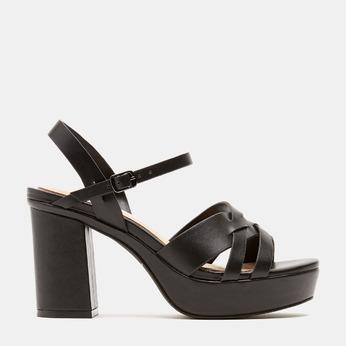 Sandales à talon large et à plateforme bata, Noir, 761-6890 - 13