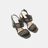 Sandales à talon large bata, Noir, 761-6861 - 19