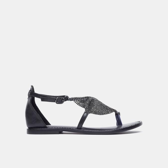 Sandales à bride bata, Noir, 564-6710 - 13