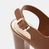 Sandales à talon large bata, Brun, 761-4849 - 26