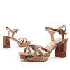 Sandales imprimé serpent bata-rl, Rouge, 761-5852 - 15